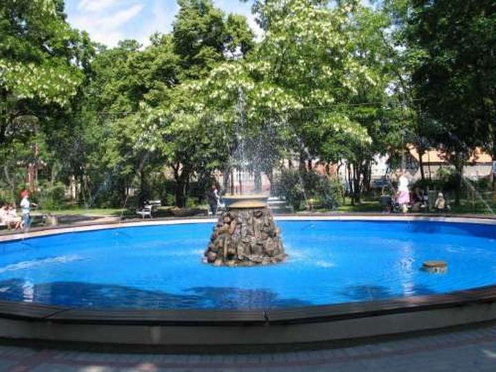 Fontanna w parku Kosynierów, stare zdjęcia -