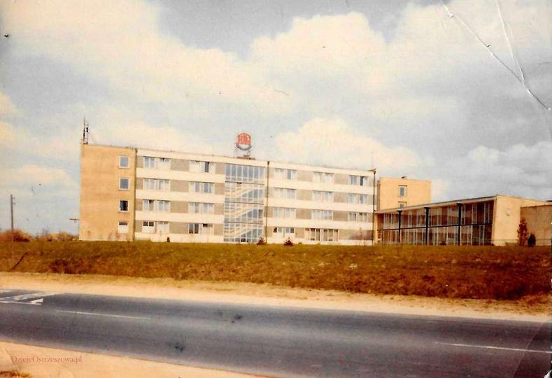 Fabryka Urządzeń Mechanicznych (FUM) Ostrzeszów, lata 70-te. Widok na zakładowy..., stare zdjęcia -
