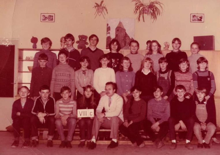 Szkoła Podstawowa Nr 2, rok szkolny 1975/76, rocznik 1969, wychowawca Ryszard Ka..., stare zdjęcia -