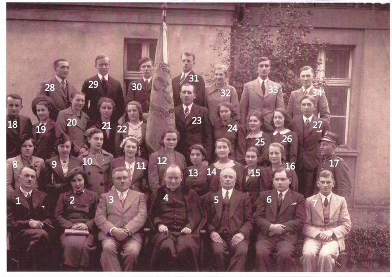 Chór kościelny Moniuszko. Rok 1938. Poszukujemy zdjęć i informacji dotyczących ..., stare zdjęcia -