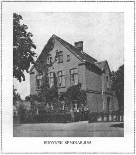 Budynek seminarium nauczycielskiego w Ostrzeszowie, stare zdjęcia -