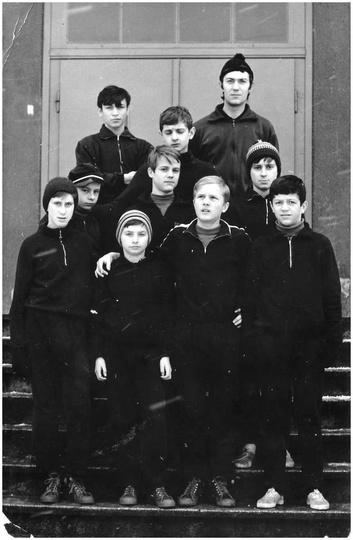 Młodzieżowy Klub Sportowy w Ostrzeszowie, lata siedemdziesiąte. Obóz sportowy w ..., stare zdjęcia -