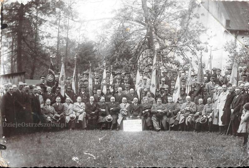 14 maja 1939 roku. Uroczystość 20 lecia założenia Koła Związków Inwalidów RP w O..., stare zdjęcia -