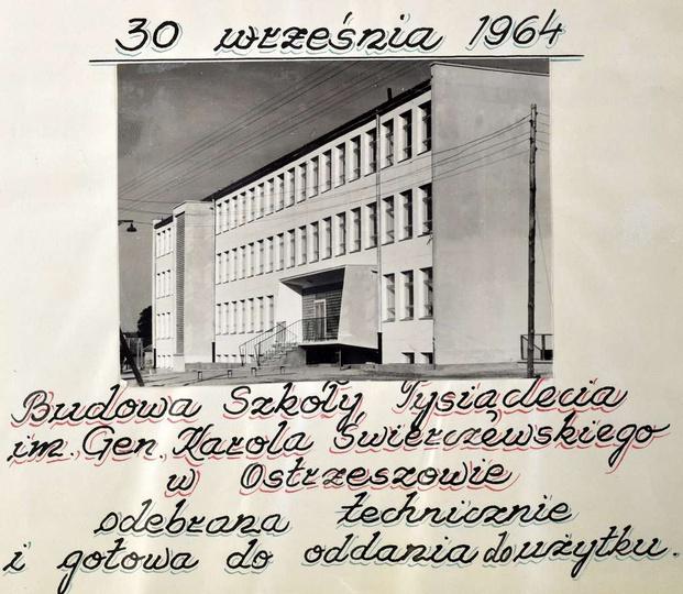 Szkoła Podstawowa nr 1. Budowa Szkoły Tysiąclecia im. Gen. Karola Świerczewskie..., stare zdjęcia -