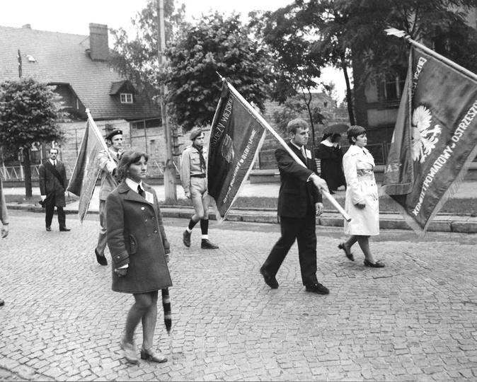 Ulica Boh. Stalingradu (Zamkowa), początek lat siedemdziesiątych. Prawdopodobnie..., stare zdjęcia -