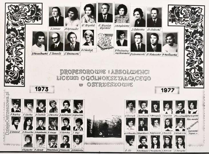 Profesorowie i Absolwenci Liceum Ogólnokształcącego w Ostrzeszowie. Lata 1973-1..., stare zdjęcia -
