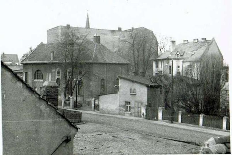 Synagoga od strony Piekar, stare zdjęcia -