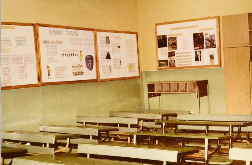 Szkoła Podstawowa nr 1. Koniec lat osiemdziesiątych, sala nr 41 w Szkole Podsta..., stare zdjęcia -