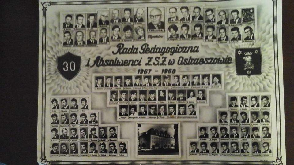 Absolwenci Z.S.Z. oraz grono pedagogiczne , stare zdjęcia -