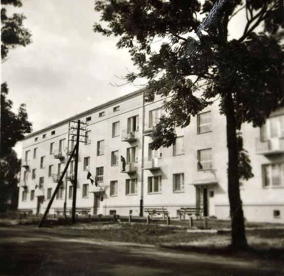 Osiedle M.Nowotki (Zamkowe), blok nr 1, lata sześćdziesiąte. , stare zdjęcia -