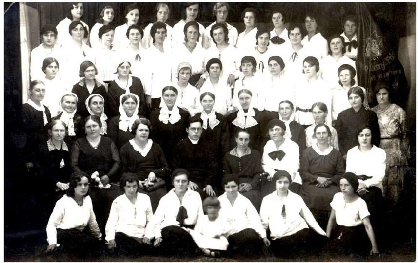 Towarzystwo Kobiet Pracujących. fot. Franciszek Feige, lata 50-te, stare zdjęcia -