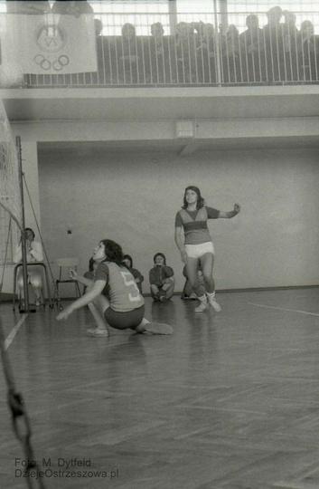 FUM Ostrzeszów. Turniej piłki siatkowej, lata siedemdziesiąte. Foto. M. Dytfel..., stare zdjęcia -