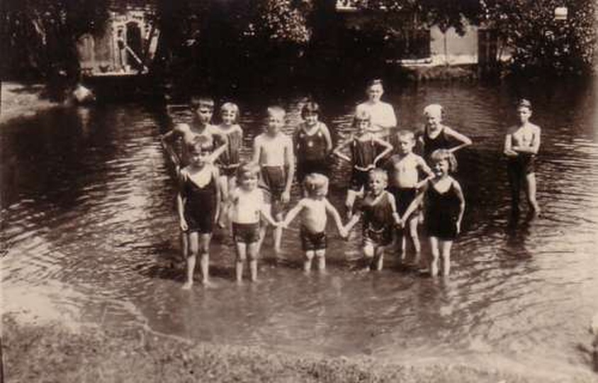Ostrzeszowskie kąpieliska - U Lipienia - ok. 1929 -1930 r., stare zdjęcia -