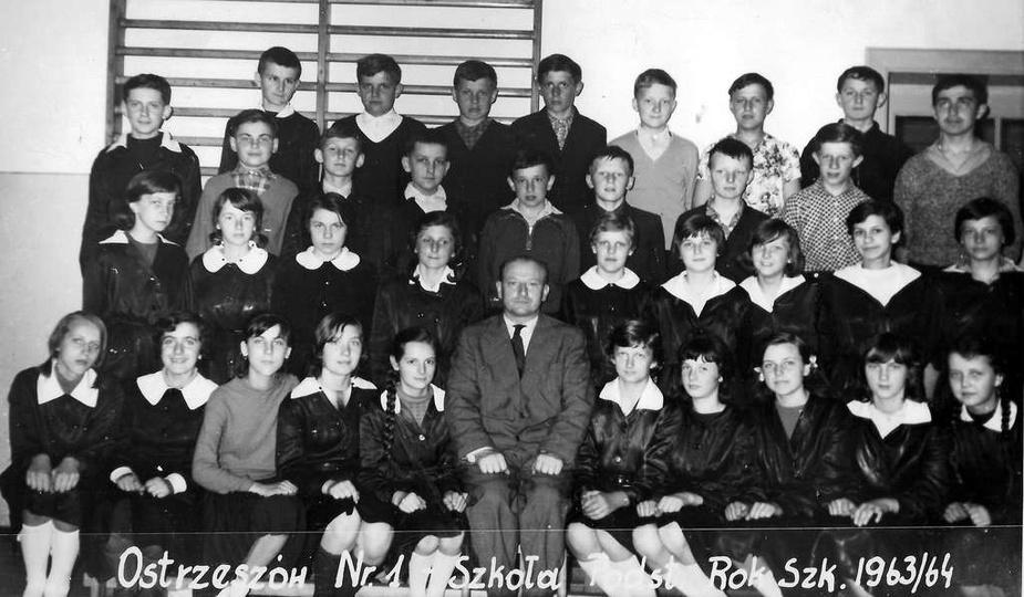 Szkoła Podstawowa nr 1, rok szkolny 1963/64., stare zdjęcia -