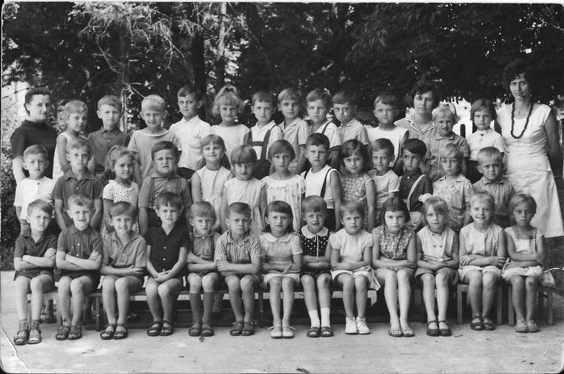Państwowe Przedszkole nr 1, rocznik 1961., stare zdjęcia -