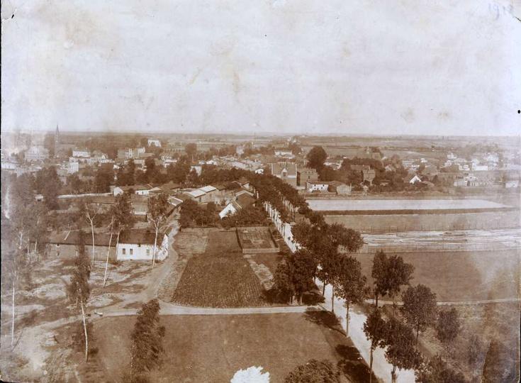 Najstarsze znane nam zdjęcie Ostrzeszowa  z 1918 r. zrobione z wieży ciśnień. -