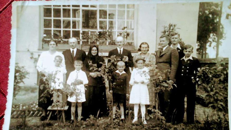 Zdjęcie wykonane w 1938 roku ,rodzina Sufrydow moi dziadkowie i pradziadkowie or... -