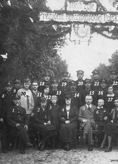 Ostrzeszowscy pocztowcy, rok 1925, stare zdjęcia -