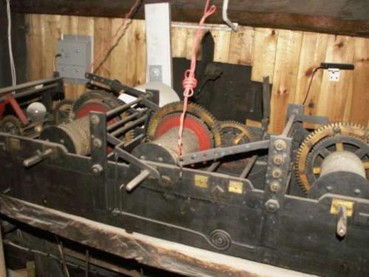 Mechanizm zegara ratuszowego - 5 kwietnia 2009, stare zdjęcia -
