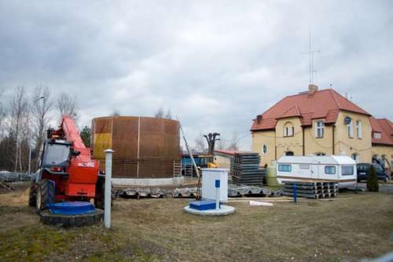 Stacja pomp na Cichej, stare zdjęcia -