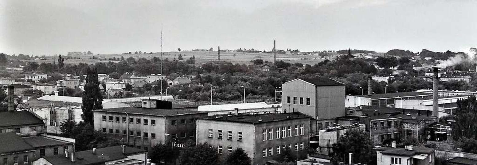 Widok z baszty w kierunku Polleny, lata osiemdziesiąte., stare zdjęcia -