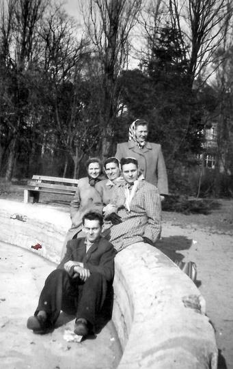 Park miejski w Ostrzeszowie, rok 1956., stare zdjęcia -