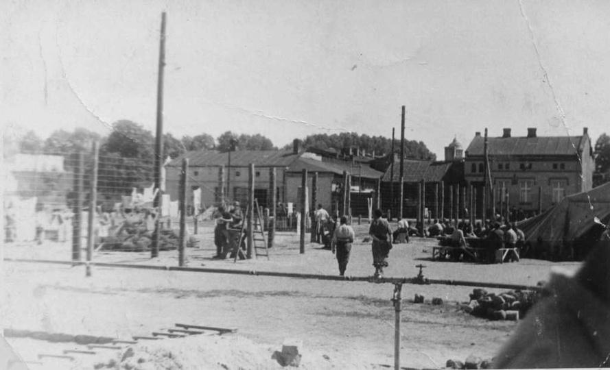 Obóz jeniecki na Borku. Zdj. ze zbiorów Muzeum Regionalnego., stare zdjęcia -