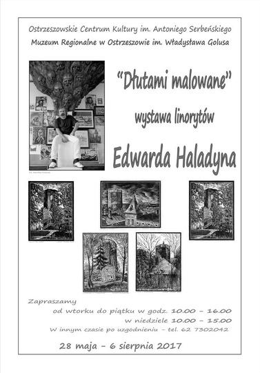 """""""Dłutami malowane""""  wystawa linorytów Edwarda Haladyna., stare zdjęcia -"""