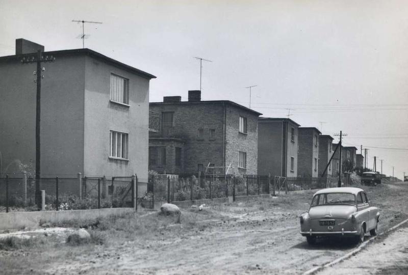 Ulica Łąkowa, lata siedemdziesiąte., stare zdjęcia -