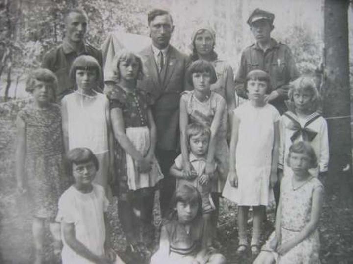 Harcerstwo w Ostrzeszowie - Biwak w Lesie Klasztornym - ok.1932-33., stare zdjęcia -