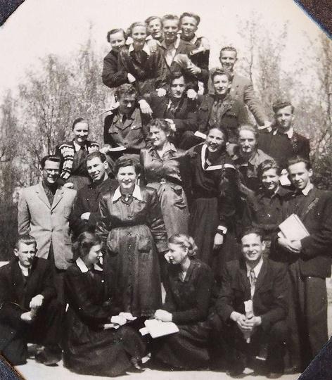 Jedna z ostatnich lekcji z rosyjskiego z p.Henrykiem Wasilewskim. Rok 1953 w par..., stare zdjęcia -