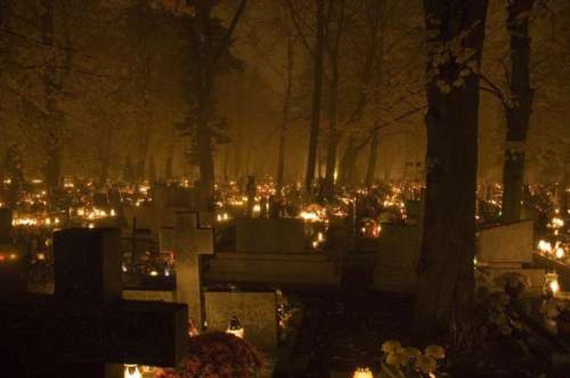 Cmentarz w Ostrzeszowie, stare zdjęcia -