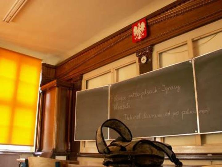 Pracownia języków klasycznych w ostrzeszowskim liceum, stare zdjęcia -