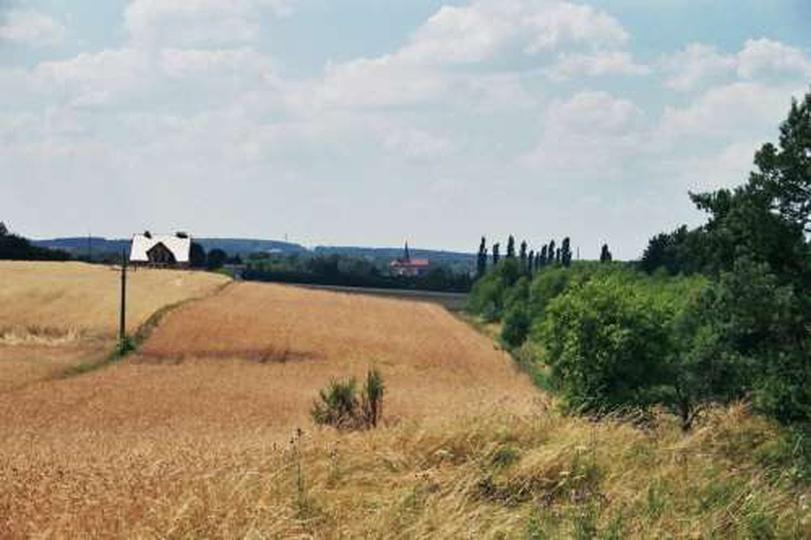 Kozia-Gorka widok w strone Ostrzeszowa, stare zdjęcia -