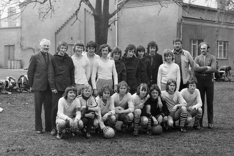 Maj 1976 rok, boisko Piasta. Na zdjęciu autorstwa Marka Dytfelda, prawdopodobnie..., stare zdjęcia -