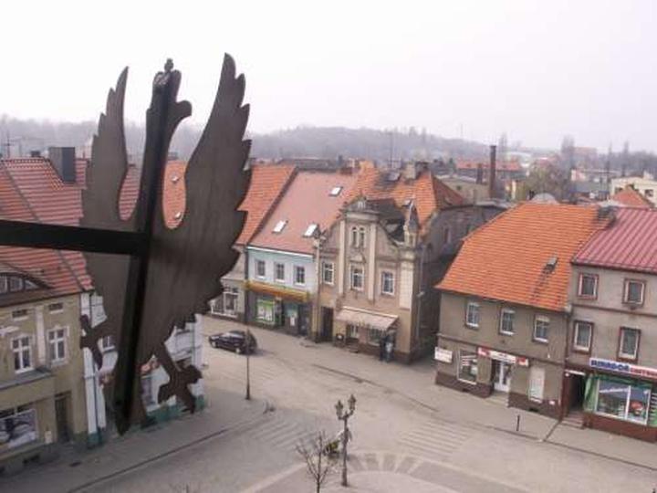 Fragment rynku z wieżyczki ratusza - 5 kwietnia 2009, stare zdjęcia -