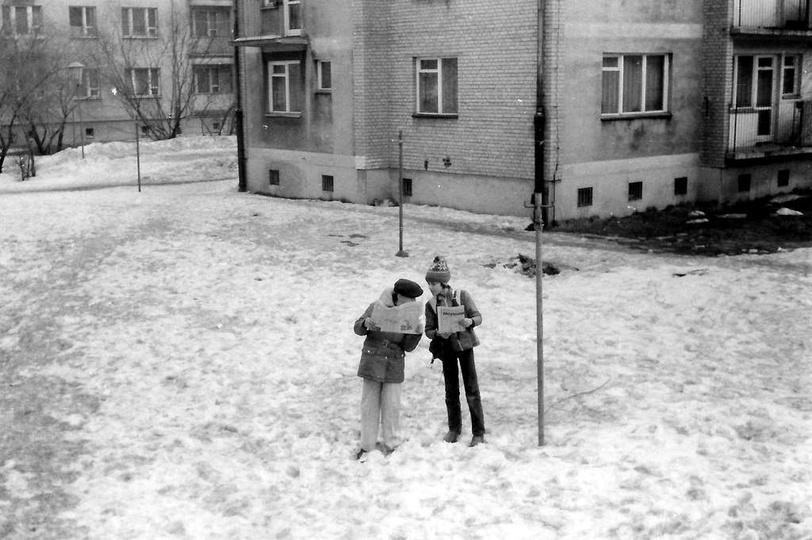 Osiedle M. Nowotki (Zamkowe). Blok nr 1 i 2, lata 80-te. Ze zbiorów Jacka Płac..., stare zdjęcia -
