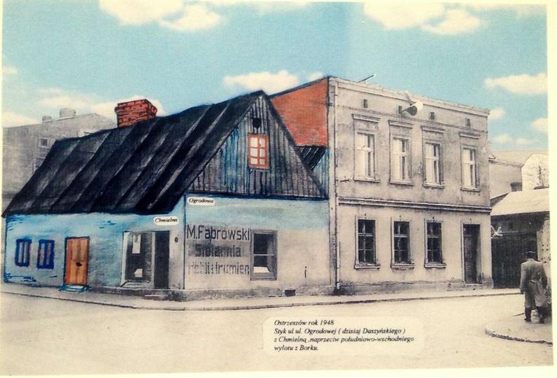 Widok z Borku na styk ul. Daszyńskiego i Chmielnej. Tym razem prezentujemy budyn..., stare zdjęcia -