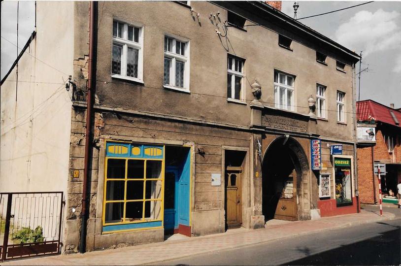 Kamienica państwa Feige przy ulicy Targowej 4, w podwórzu mieścił się zakład fot..., stare zdjęcia -