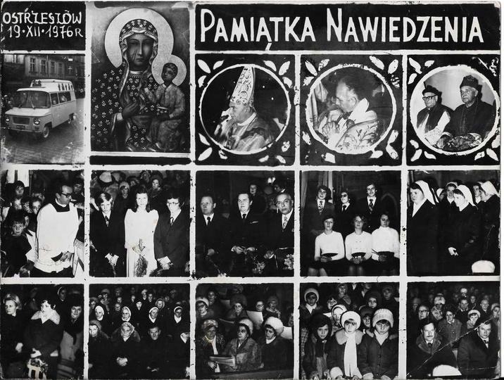 Nawiedzenia obrazu Matki Boskiej w Ostrzeszowie, 19 grudzień 1976 rok. Autorem ..., stare zdjęcia -