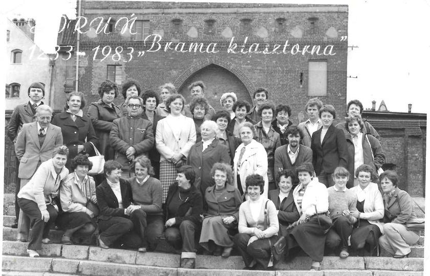 """Wycieczka do Torunia pracowników PSS """"Społem"""", rok 1983. Ze zbiorów Mariana Mar..., stare zdjęcia -"""