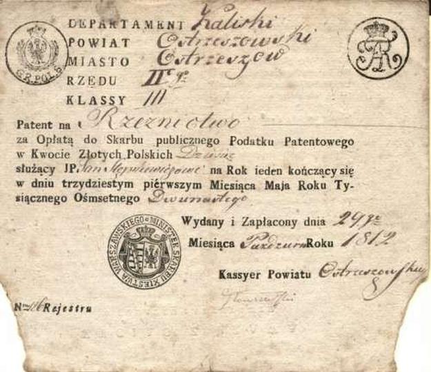 Patent na rzeźnictwo, stare zdjęcia -
