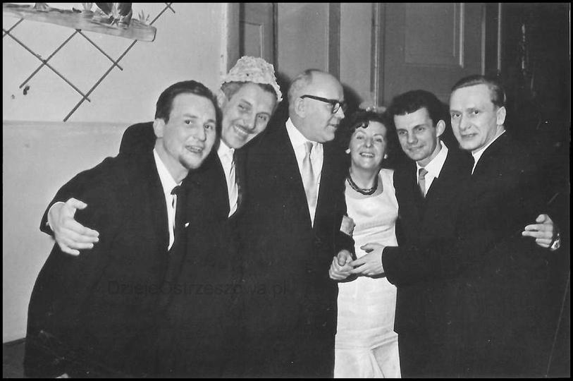 Spotkanie Koła Przyjaciół Harcerstwa, rok ok. 1964, aula Liceum Ogólnokształcące..., stare zdjęcia -