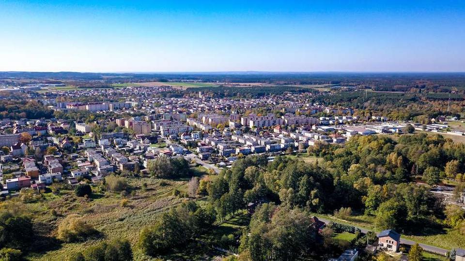 Widok z łąk przy klasztorku na miasto, stare zdjęcia -