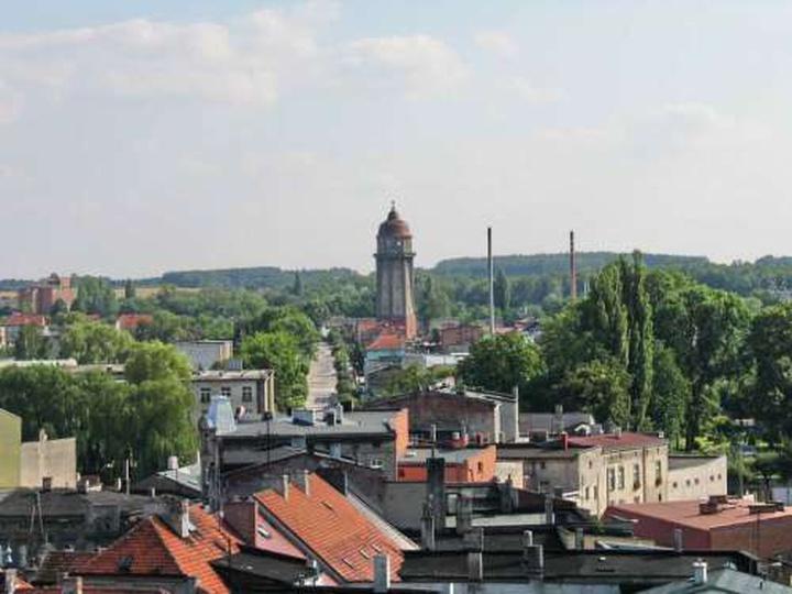 Widok z Baszty w kierunku ul. Sikorskiego., stare zdjęcia -