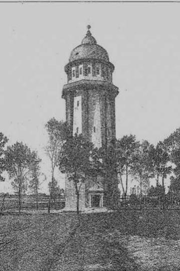 Wieża ciśnień 1918r., stare zdjęcia -