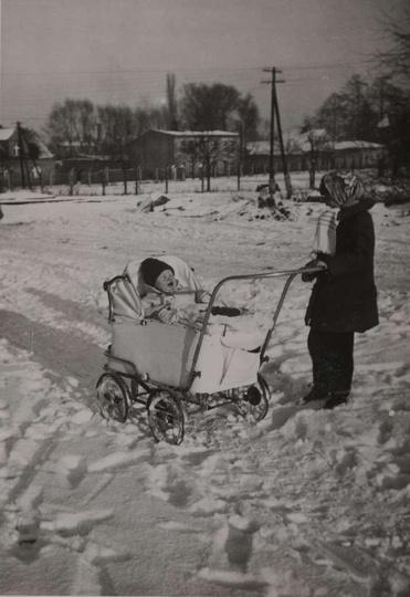 Zima 1961/62, styk ulic: Łąkowej, Wieluńskiej i Św. Mikołaja. Ze zbiorów Józefa..., stare zdjęcia -