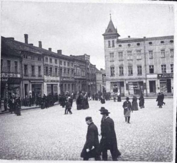Żydzi na rynku. Ok. 1900r., stare zdjęcia -