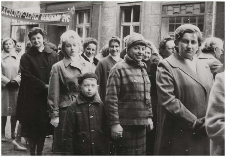 Styk ulicy Powstańców Wielkopolskich i Marii Kurzawskiej, lata sześćdziesiąte. W..., stare zdjęcia -