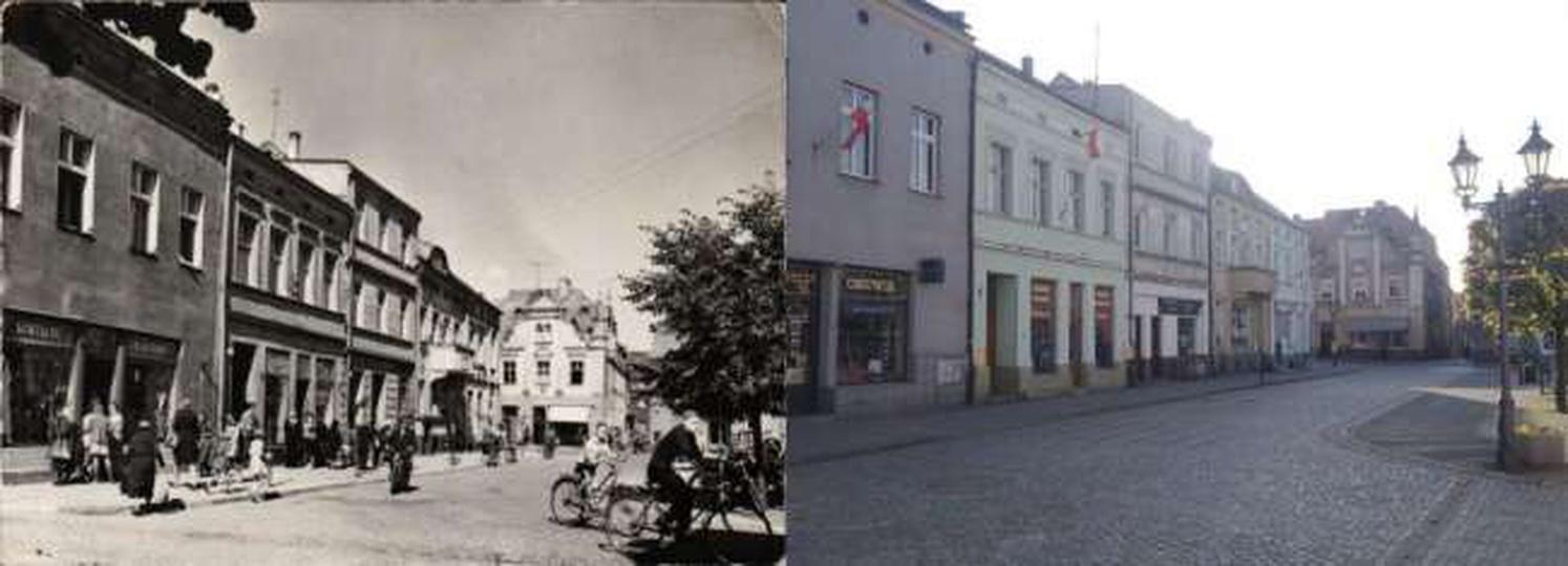 Rynek 1971 i 2014, stare zdjęcia -